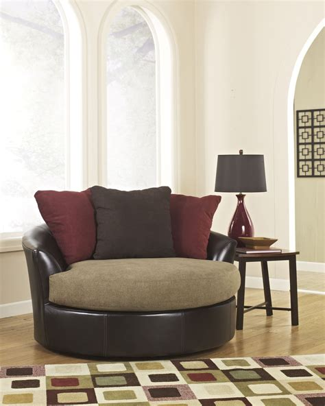 sanya mocha oversized swivel accent chair 2840021