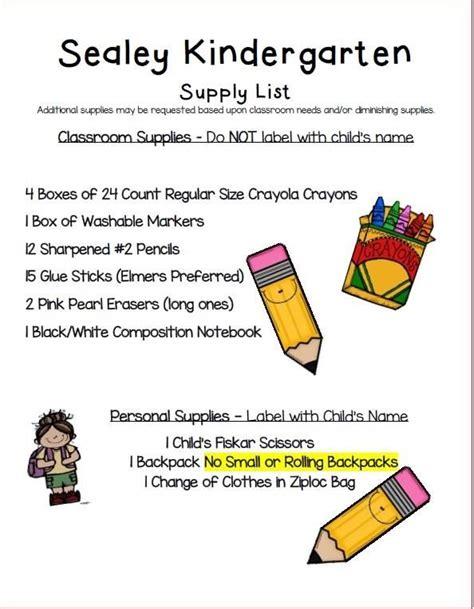 school supply lists kindergarten 130 | Kindergarten%20School%20Supply%20List%202018