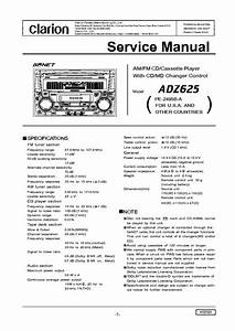 Clarion Drx7375r Drx7375rw Sm Service Manual Free Download