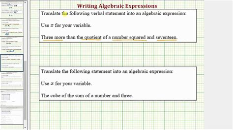Ex Write A Algebraic Expression In The Form X^2a+b And (x+a)^3 Youtube