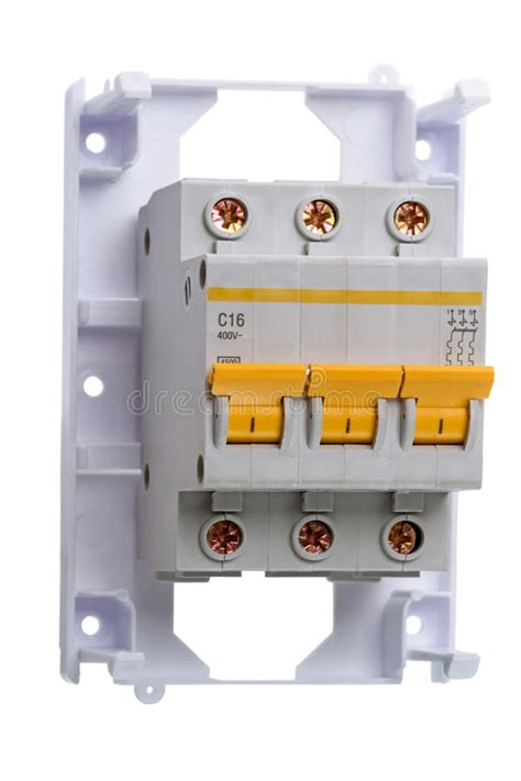 Circuit Breaker Three Phase White Stock Photo Image