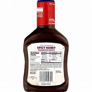Kraft Honey Bbq Sauce Nutrition Facts