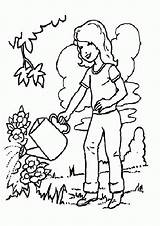 Coloring Plants Pages Watering Clipart Water Conservation Tree Trees Plant Cartoon Cliparts Pine Outline Quotes Save Preschool Saving Grandparents Library sketch template