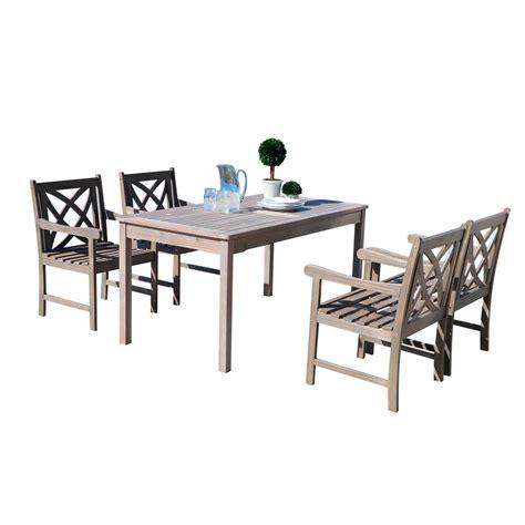 vifah renaissance 5 rectangle patio dining set
