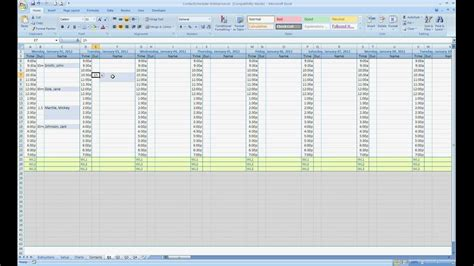 Free Excel Contact Appointment Scheduler