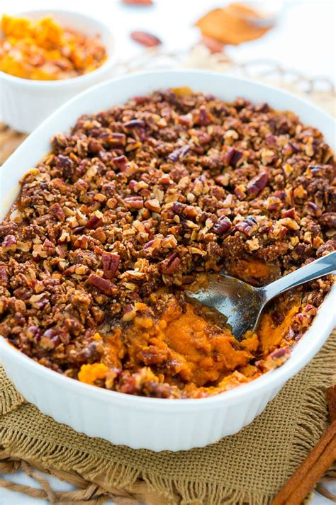 sweet potato casserole with pecan topping sweet potato casserole with pecan topping delicious meets healthy