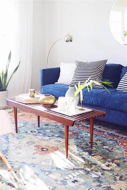 Living Sofa Velvet West Rug Elm Modern