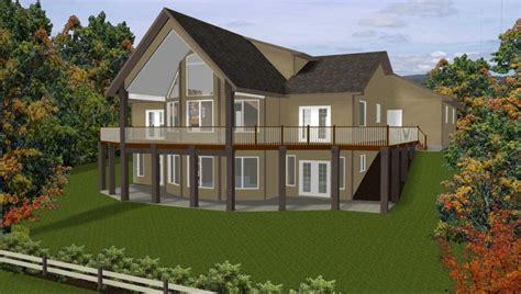 Luxury Hillside House Plans with Walkout Basement New