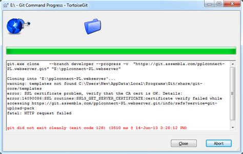 Ssl Certificate Issue While Creating Git Clone With
