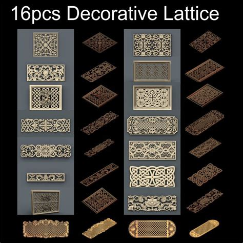 pcs decorative lattice  model stl relief  cnc stl