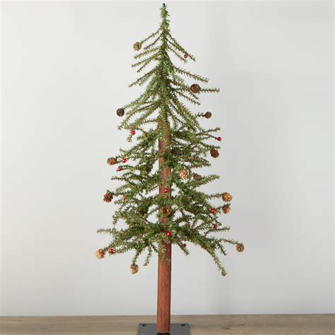 primitive skinny artificial alpine tree christmas trees