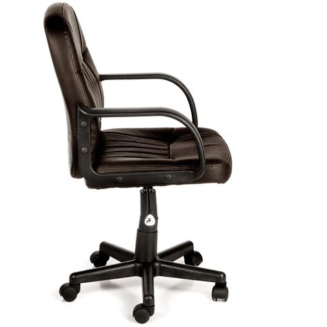 comfort products mid back leather office chair 307390