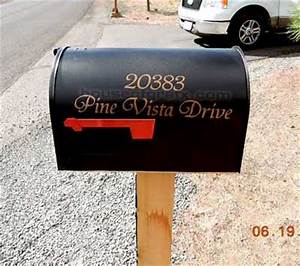Personalized mailbox vinyl letters numbers decal decals for Mailbox letters and numbers stickers