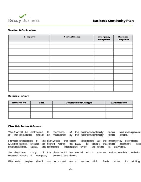 simple business plan template free simple business continuity plan template free