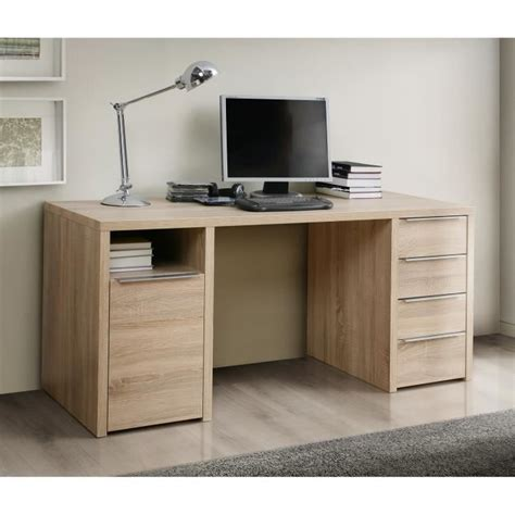 bureau 160 cm calpe bureau chêne sonoma l 160 cm achat vente