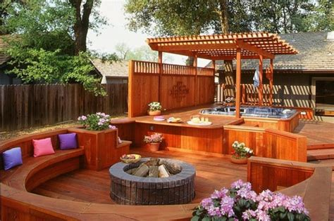 Hot Tub Patio Ideas, Luxury Decks And Patios Backyard Deck
