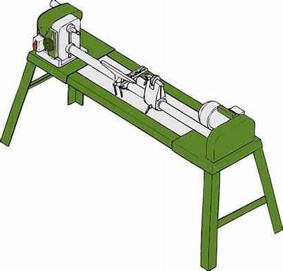 Lathe Clip Wood Tools Clipart Workshop Vector