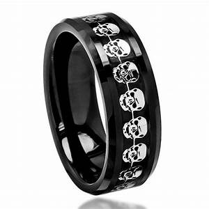 17 best images about skull wedding band on pinterest With mens gothic wedding rings
