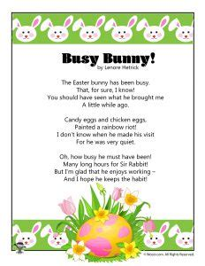 printable easter poems woo jr activities 360 | Bunny Childrens Easter Poem 232x300