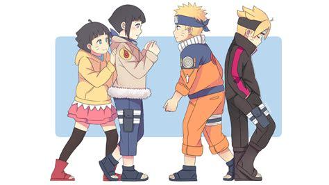 Himawari, Hinata, Naruto And Boruto Hd Wallpaper