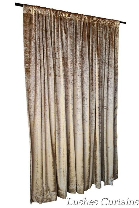 Gold Drapery Panels - solid gold velvet 11ft h curtain panel theatrical stage