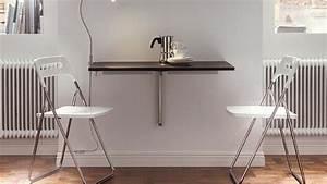 Table Murale Cuisine : 3 solutions pour installer une table dans une petite cuisine ~ Teatrodelosmanantiales.com Idées de Décoration