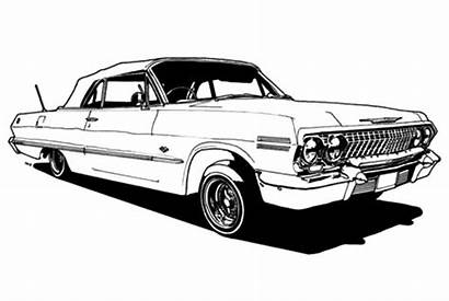 Lowrider Coloring Cars Pages Classic Drawings Impala