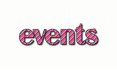 Events Word Logos