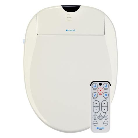 home bidet brondell biscuit elongated heated bidet toilet seat s1000