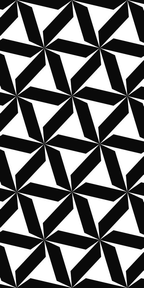 Abstract Black And White Patterns by Seamless Black And White Hexagonal Abstract Geometric