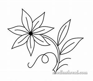 Free Hand Embroidery Pattern: Single Flower | Hand ...