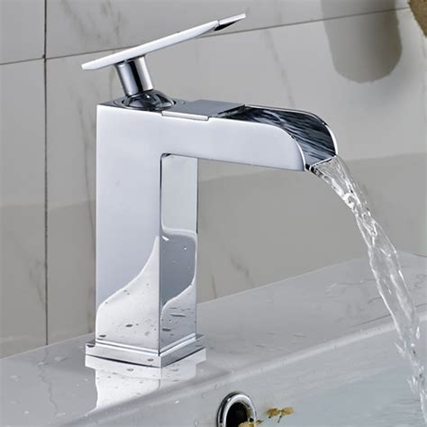 Wholesale Faucet by Modern Open Spout Waterfall Bathroom Faucet In Chrome