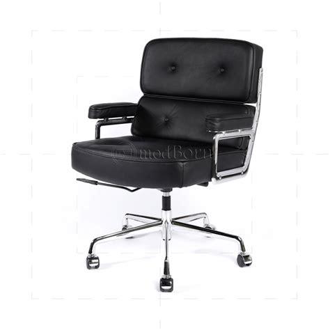 bureau style ea104 eames style office lobby black leather executive