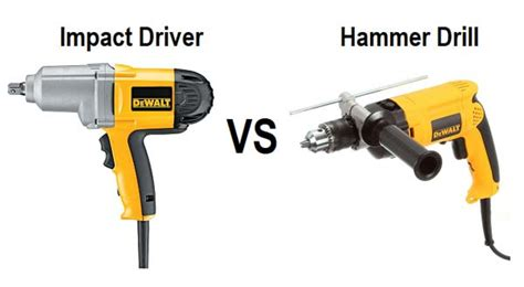 differences  impact driver  hammer drill