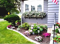 Outdoor flower beds in front of house Front Yard Flower