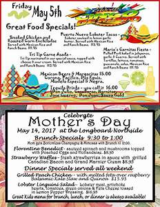 Cinco De Mayo and Mothers Day Specials   The Longboard ...