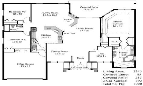 4 Bedroom House Plans Open Floor Plan 4-bedroom Open House