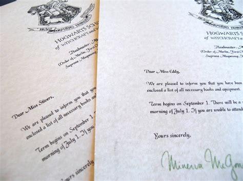 die besten  hogwarts briefvorlage ideen auf pinterest