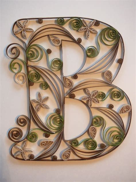 paper quilled letter  quilling letters paper quilling designs quilling paper craft
