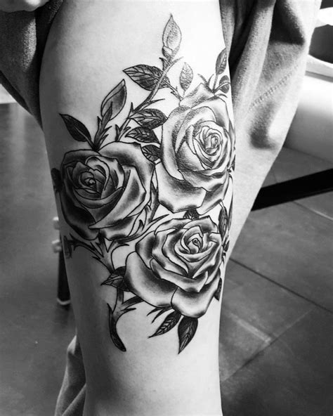 Fresh Rose And Thorn Tattoo Sleeve of 2019 💅 #man, #woman Tattoo Images