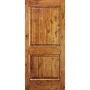 wood interior doors home depot krosswood doors 32 in x 80 in knotty alder 2 panel square top with v groove solid wood core
