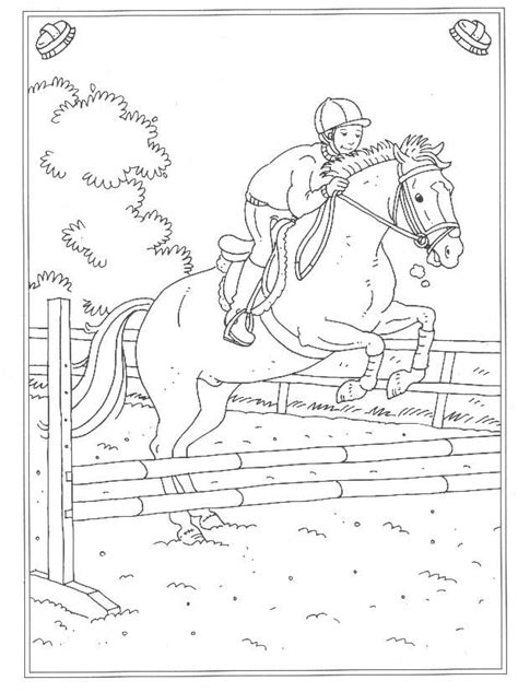 Kleurplaat Paarden Manege by 24 Kleurplaten Op De Manege Op N Nl Op