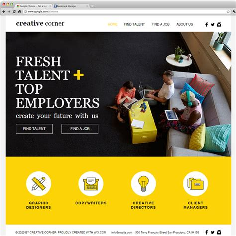 turn page into template wix creative staffing agency wix website templates