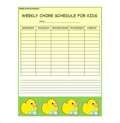weekly schedule templates docs   premium