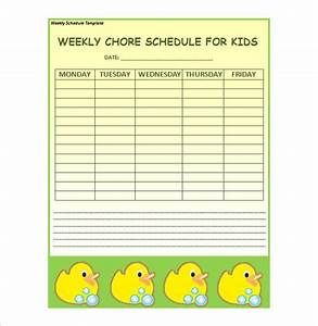 Weekly schedule template 12 free sample example format for Weekly schedule template for kids