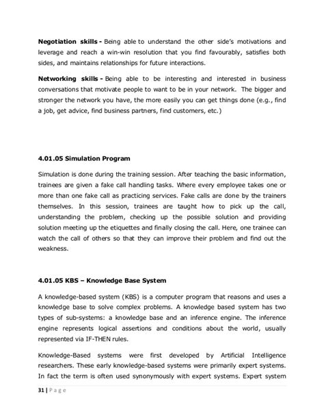 Training Program & its Effectiveness in Customer Service