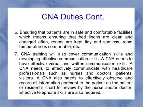 cna and the responsibilities of a cna
