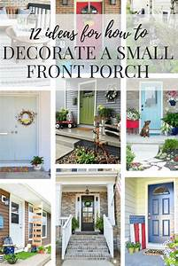 Small Front Porch Ideas - How to Decorate a Porch // Love