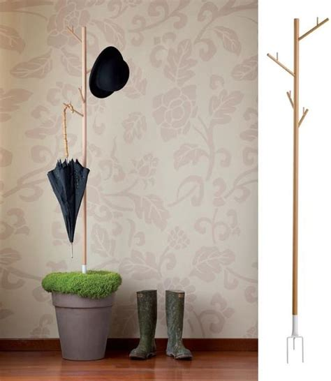 recover coat rack with hooks for umbrellas green design