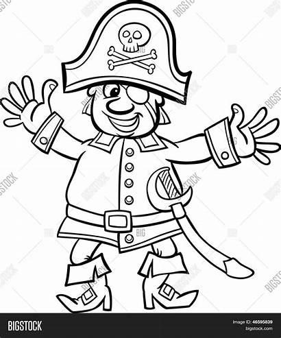 Cartoon Pirata Colorear